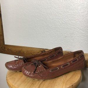Zara women loafers leather